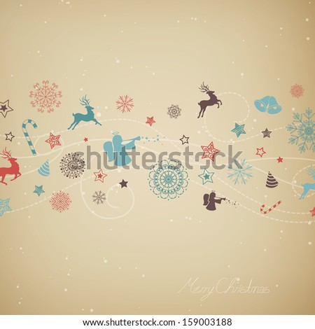 Vector Illustration of a Stylized Christmas Background - stock vector