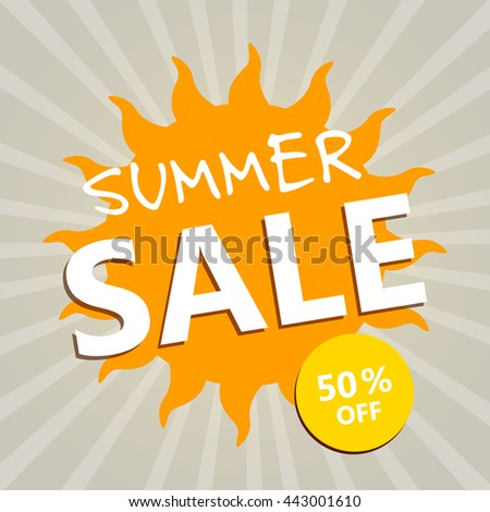 Vector Illustration of a Summer Sale Design Template