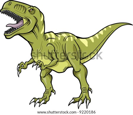 Vector Illustration of a T-Rex Dinosaur - stock vector