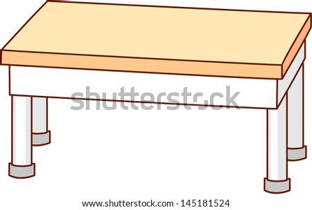 Vector illustration of a table
