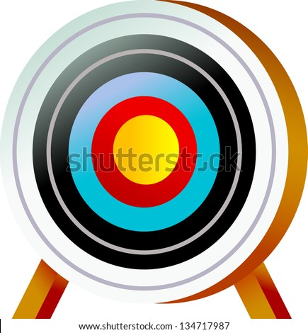 Vector illustration of a target