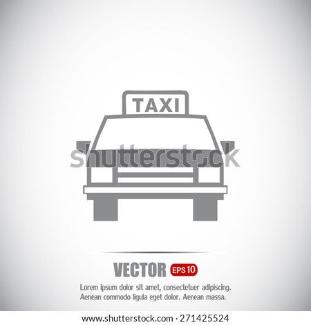 Vector illustration of a taxi  - stock vector