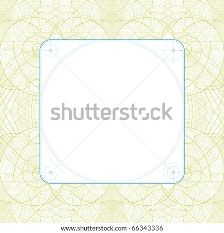 Vector illustration of a technical draft background with a blank frame. - stock vector