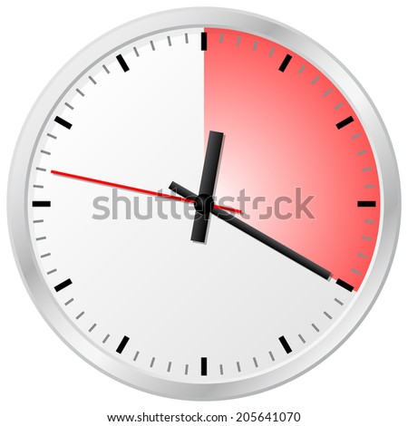 vector illustration of a timer with 20 (twenty) minutes - stock vector