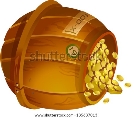 Vector illustration of a treasure