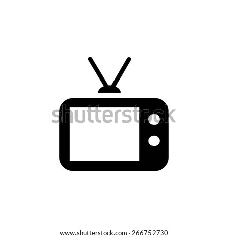 Vector illustration of a tv - stock vector