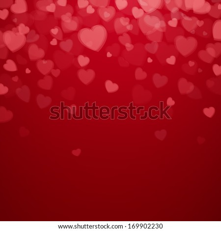 Vector Illustration of a Valentines Day Card - stock vector