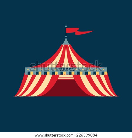 Vector illustration of a vintage circus tent