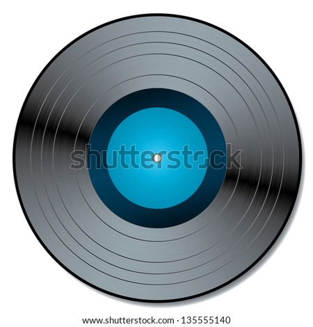 Vector illustration of a vinyl.