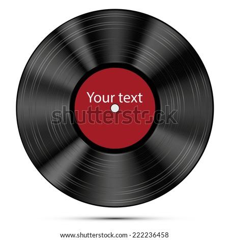 Vector illustration of a vinyl record. - stock vector