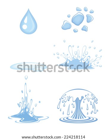 Vector illustration of a water drops set - stock vector