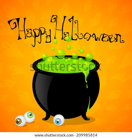 Vector Illustration of a Witch's Cauldron - stock vector