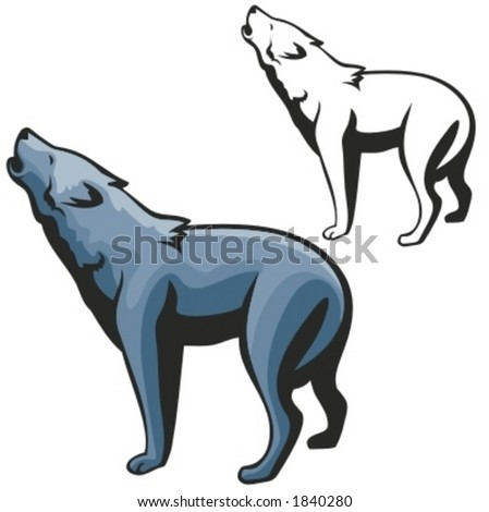Vector illustration of a wolf. - stock vector