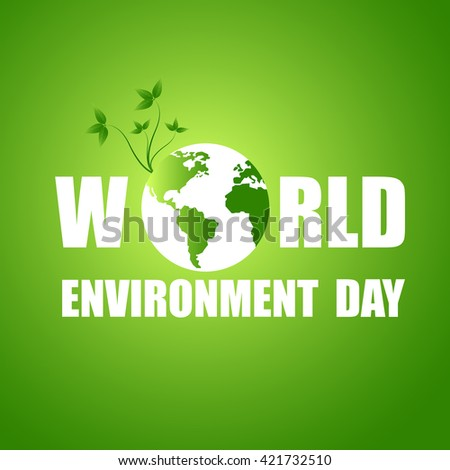 Vector illustration of a World Environment Day. - stock vector