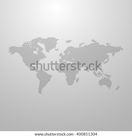 vector illustration of a world map. infographics element design. global communication infographic concept. international communication concept. world infographic vector map. halftone vector world map - stock vector