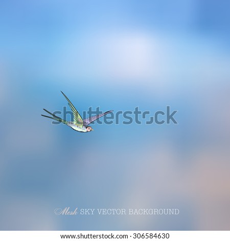 Vector illustration of abstract background for design. Blurred background. Abstract blurred background. Retro label. Abstract mesh background. Mesh blurred background. Swallow. Template for poster.