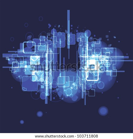vector illustration of  abstract  background with a blue colors - stock vector