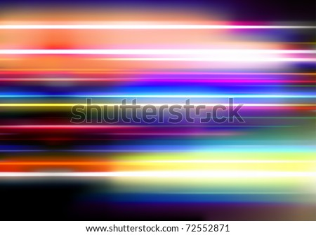 Vector illustration of abstract background with blurred magic neon color lights - stock vector