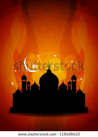 Vector illustration of abstract beautiful religious eid background. - stock vector