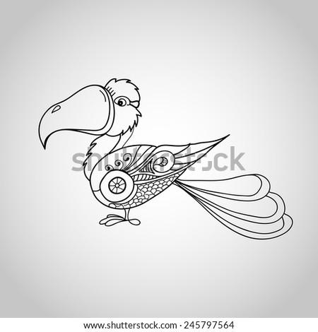 Vector illustration of abstract bird - stock vector