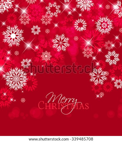 Vector illustration of abstract Christmas background with snowflakes - stock vector