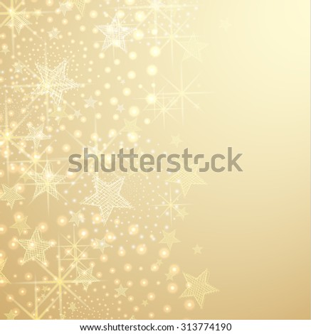 Vector illustration of abstract Christmas background with stars - stock vector