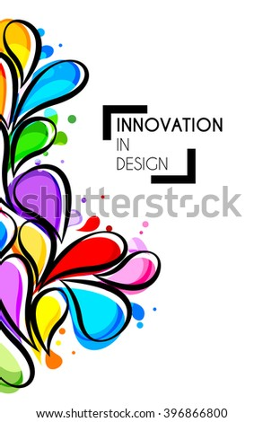 Vector illustration of abstract colorful background with design splash - stock vector