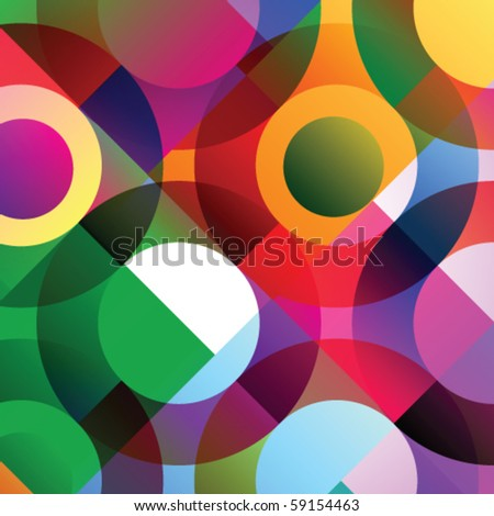 Vector illustration of abstract colorful elements - stock vector