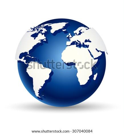 Vector illustration of abstract digital world globe - stock vector