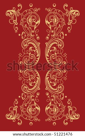 Vector illustration of abstract golden pattern
