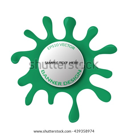 Vector illustration of  abstract  green blot. Banner design. Eps10 vector - stock vector