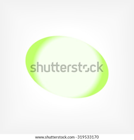 Vector illustration of abstract green sphere on white