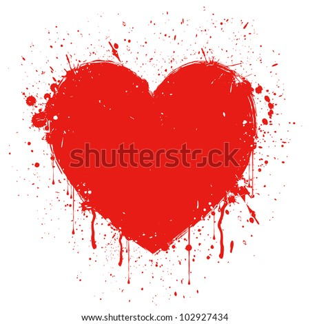 Vector illustration of  abstract grunge heart - stock vector