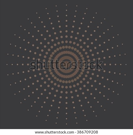 vector illustration of abstract halftone background - stock vector