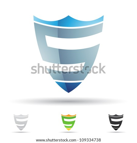 Vector illustration of abstract icons based on the letter S - stock vector