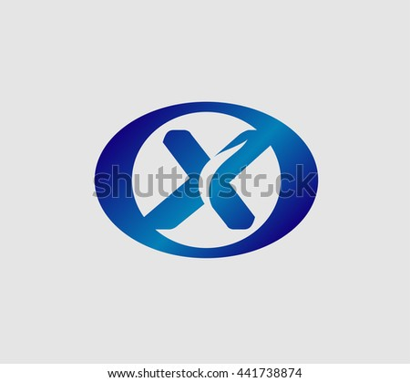 Vector illustration of abstract icons based on the letter X logo  - stock vector