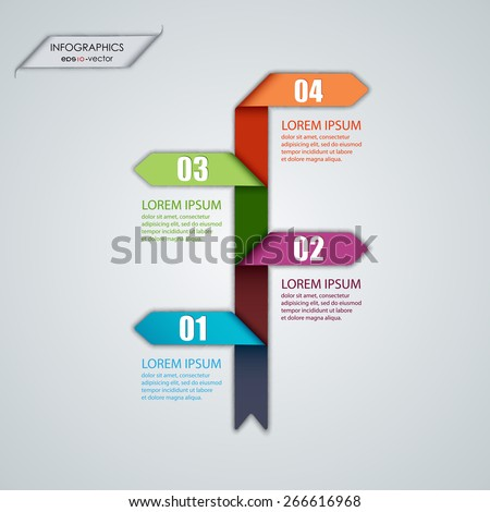 Vector illustration of abstract images infographics - stock vector