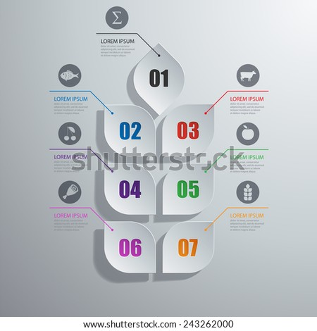 Vector illustration of abstract images infographics on the topic of agriculture - stock vector