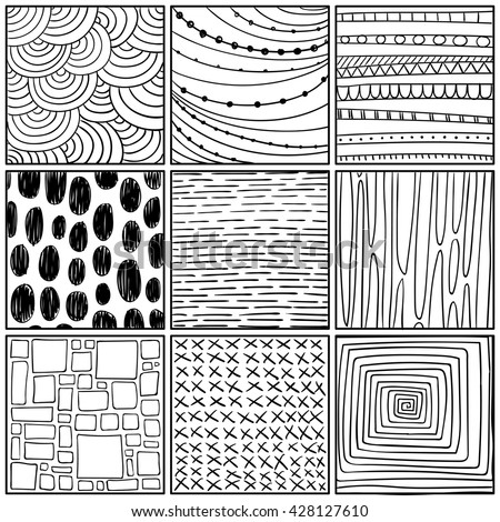 Vector Illustration of Abstract Line Drawing Design Elements
