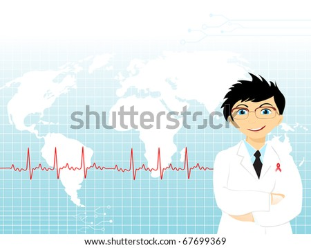 vector illustration of abstract medical background - stock vector