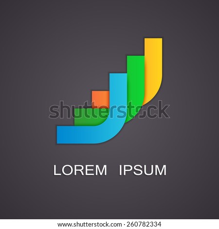 Vector illustration of abstract symbols - stock vector