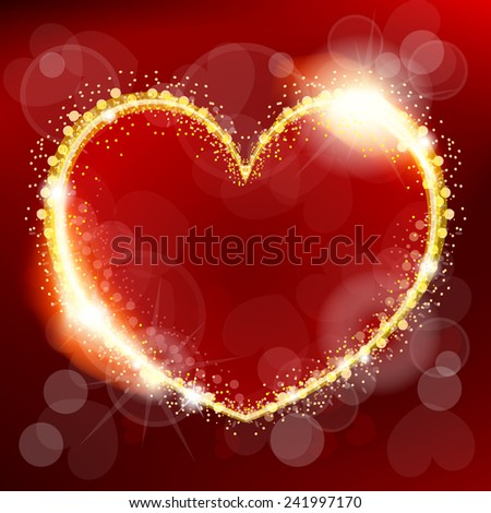 Vector illustration of abstract valentine day heart - stock vector