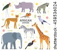 vector illustration of african...