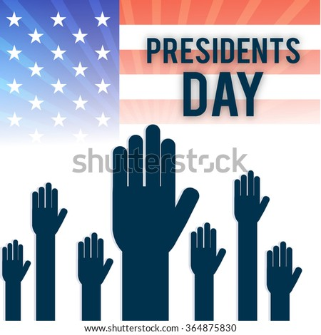 Vector illustration of  American flag background for Presidents Day.