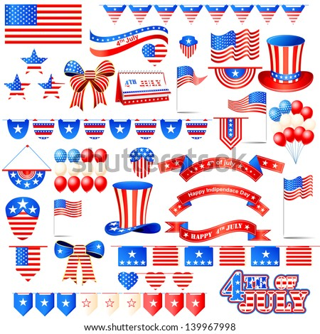 vector illustration of American Independence Day element - stock vector