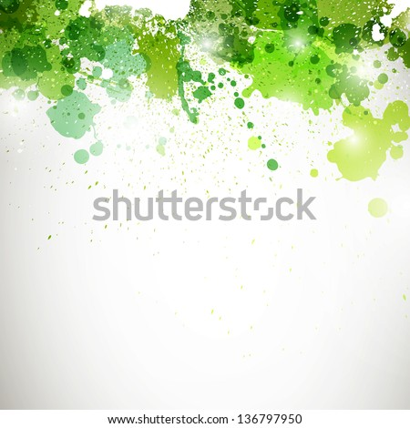 Vector Illustration of an Abstract Background with Blots - stock vector