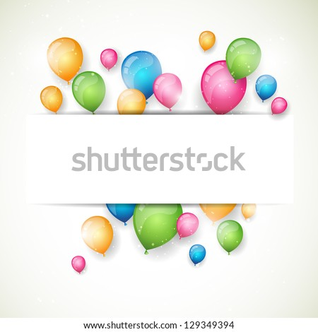 Vector Illustration of an Abstract Background with Colorful Balloons - stock vector