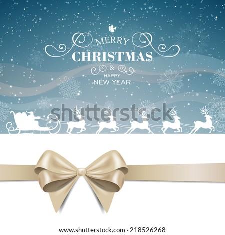 Vector Illustration of an Abstract Christmas Design - stock vector