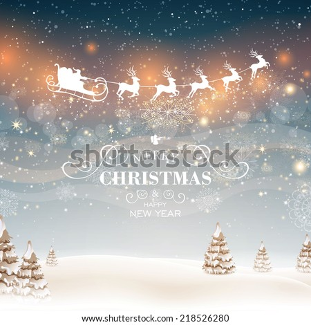 Vector Illustration of an Abstract Christmas Design - stock vector