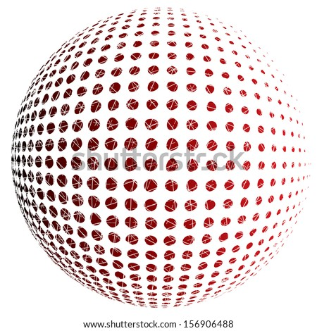 Vector illustration of an abstract dotted sphere.